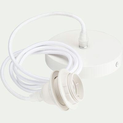 Cordon électrique en tissu E27 - blanc L150cm-ARGUIN
