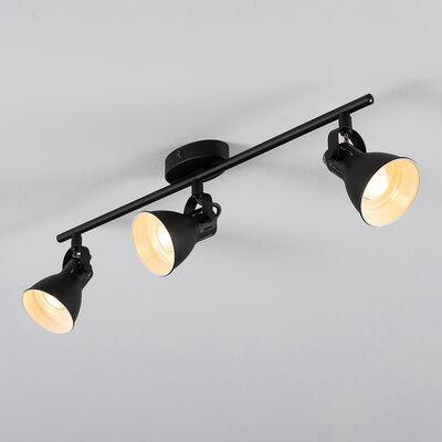Barre de 3 spots LED L59,50xH6,50cm - noir-SERAS