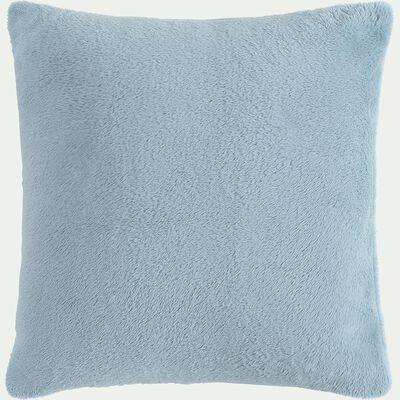 Housse de coussin effet polaire- bleu calaluna 40x40cm-ROBIN