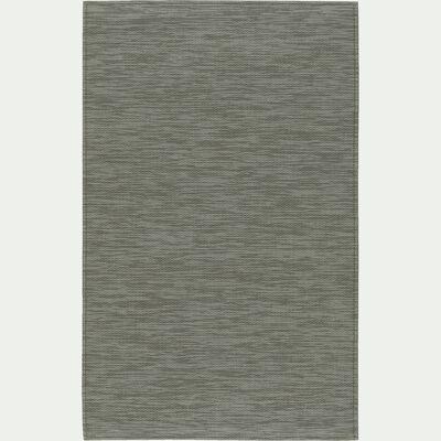 Tapis de cuisine effet tissé - vert olivier 50x80cm-VITOU