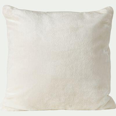 Housse de coussin effet polaire - blanc ventoux 40x40cm-ROBIN