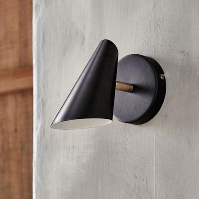 Applique en métal noir et doré H19,7cm-AGLAE
