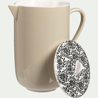Cafetière en porcelaine - beige roucas motif jasmin 60cl-AIX