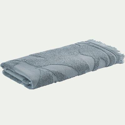 Serviette de toilette en coton - bleu calaluna 50x100cm-Ryad