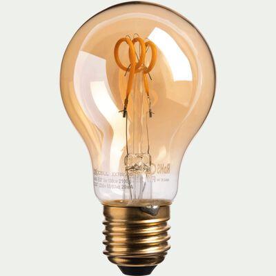 Ampoule décorative LED ambre D6cm culot E27-STANDARD