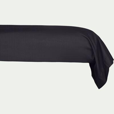 Taie de traversin en coton - gris calabrun 43x190cm-CALANQUES