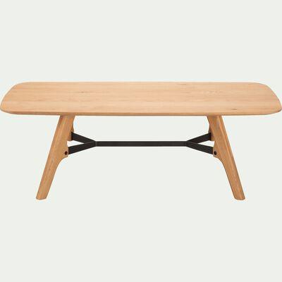 Table basse plaquée chêne-FANETTE