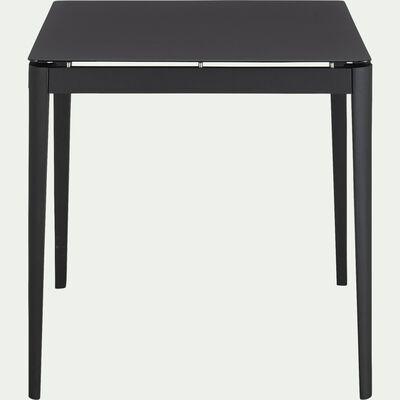 Table repas fixe en aluminium - noir (4 places)-Estila