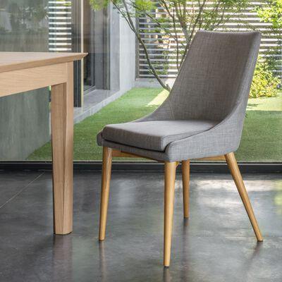 Chaise en tissu - gris clair-ABBY