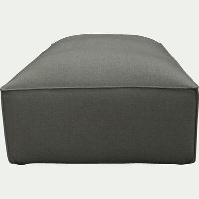 Grand pouf en tissu - L125xH40xl70cm gris restanque-REVERE