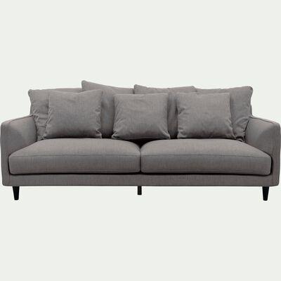 Canapé 4 places fixe en tissu gris restanque-LENITA