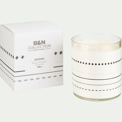 Bougie parfumée cèdre et iris blanc 160g-BIANCO ET NERO