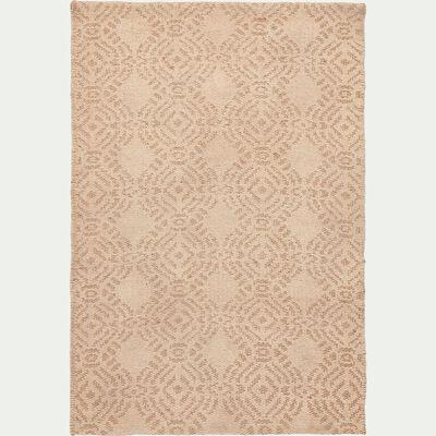 Tapis en jute et coton - beige 60x90cm-SAFAR