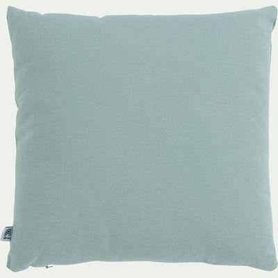Coussin en coton - bleu calaluna 40x40cm-CALANQUES