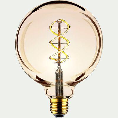 Ampoule LED décorative ambrée D9,5cm culot E27-GLOBE