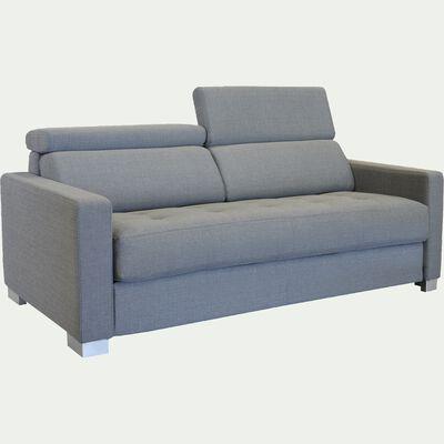 Canapé 3 places convertible en tissu - gris borie-MAUROBULTEX