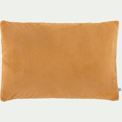 Housse de coussin effet polaire- beige nèfle 40x60cm-ROBIN