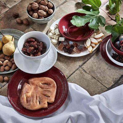 Assiette creuse en faïence D19cm - rouge sumac-MORA