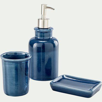 Set de salle de bain en céramique - bleu figuerolles-DANA