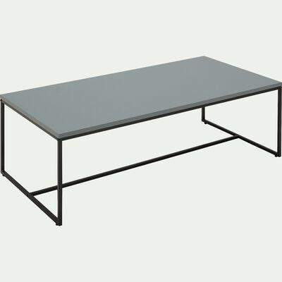 Table basse rectangulaire en bois et acier - vert laqué-LEONORE