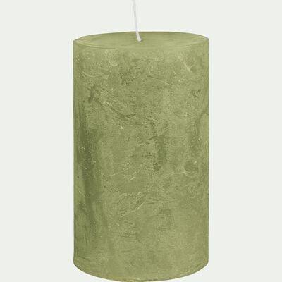 Bougie cylindrique - D7xH11cm vert-BEJAIA