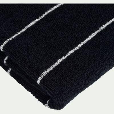 Linge de toilette en coton - noir-GAETA