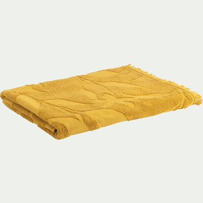 Serviette de toilette en coton - jaune argan 50x100cm-Ryad