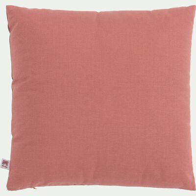 Coussin en coton - rouge ricin 40x40cm-CALANQUES