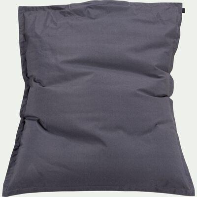 Pouf d'extérieur - gris ardoise 150x130cm-VARENNE
