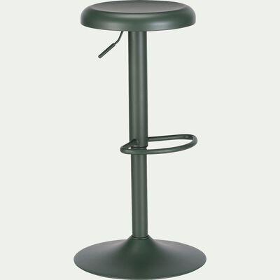 Tabouret ajustable en métal H59,5 à 81,5cm - vert cèdre-CURTIS
