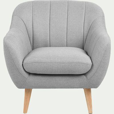 Fauteuil en tissu - gris clair-SHELL