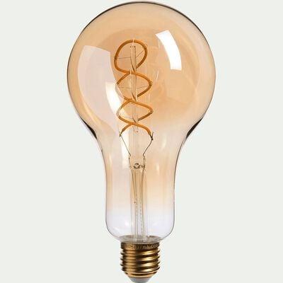 Ampoule décorative LED ambre D9,5cm culot E27-DECO
