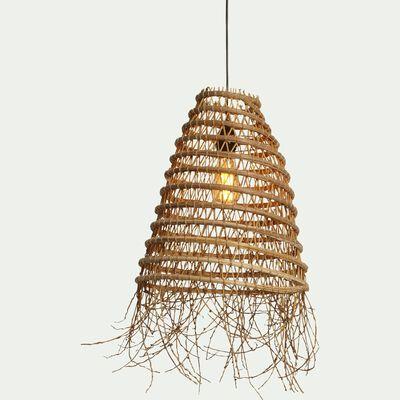 Suspension fait main en palmier - naturel D39cm-ORIA
