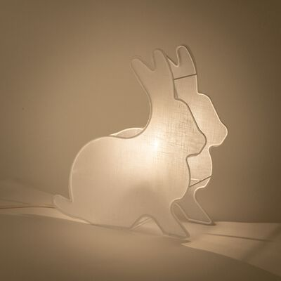 Veilleuse lapin L34cm - blanc-Pierro