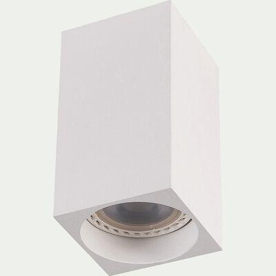 Spot LED fixe carrée en aluminium H10xD5,5cm - blanc-DELTO