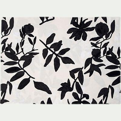 Set de table en coton à motif floral - blanc 35x48cm-MALINI