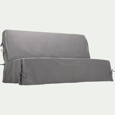 Housse pour clic-clac en polycoton - gris restanque L195cm-PAULINE