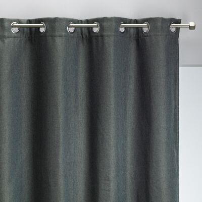 Rideau à œillets en polyester - vert cèdre 135x300cm-PINEDE