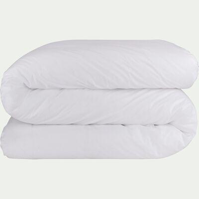 Housse de couette en percale de coton - blanc 240x220cm-FLORE