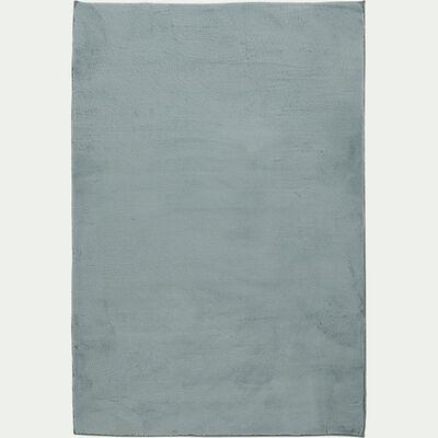 Tapis imitation fourrure - bleu calaluna 150x200cm-ROBIN