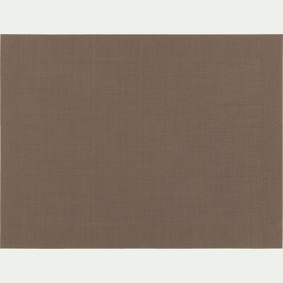 Set de table en PVC brun ombre 36x48cm-VIGNE