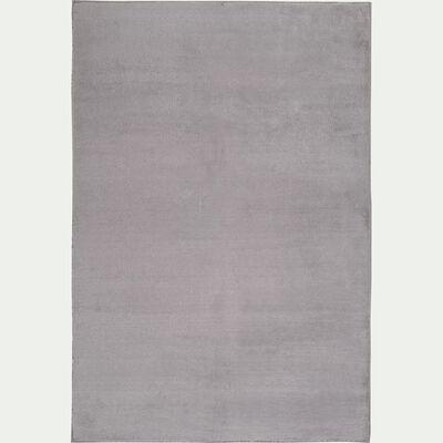 Tapis imitation fourrure - gris restanque 100x150cm-ROBIN