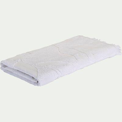 Drap de douche en coton - blanc 70x140cm-Ryad