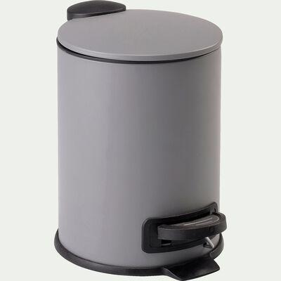 Poubelle en fer - gris 3L-LUDER