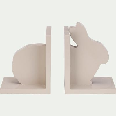 Presse livre forme lapin - beige alpilles-Bibli
