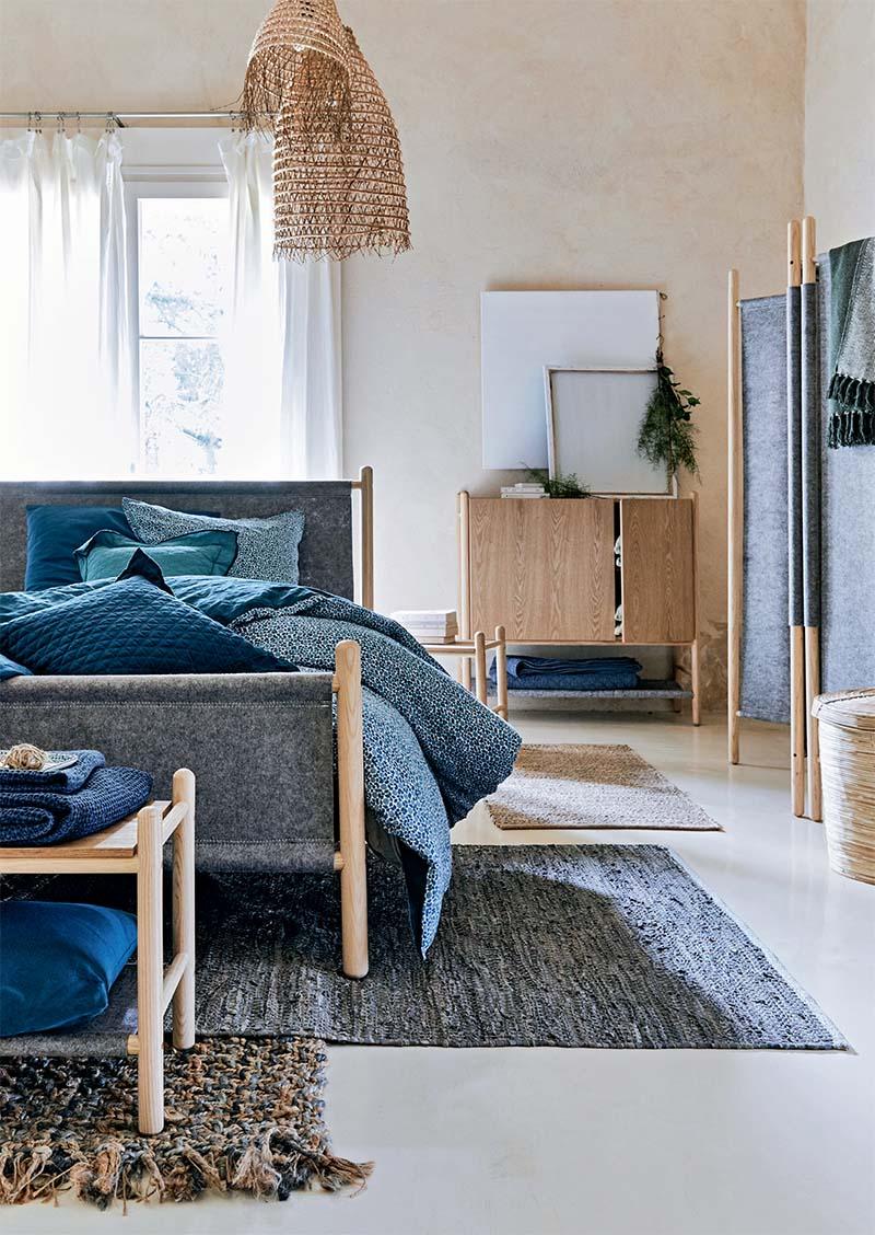 chambre bois brut et feutrine