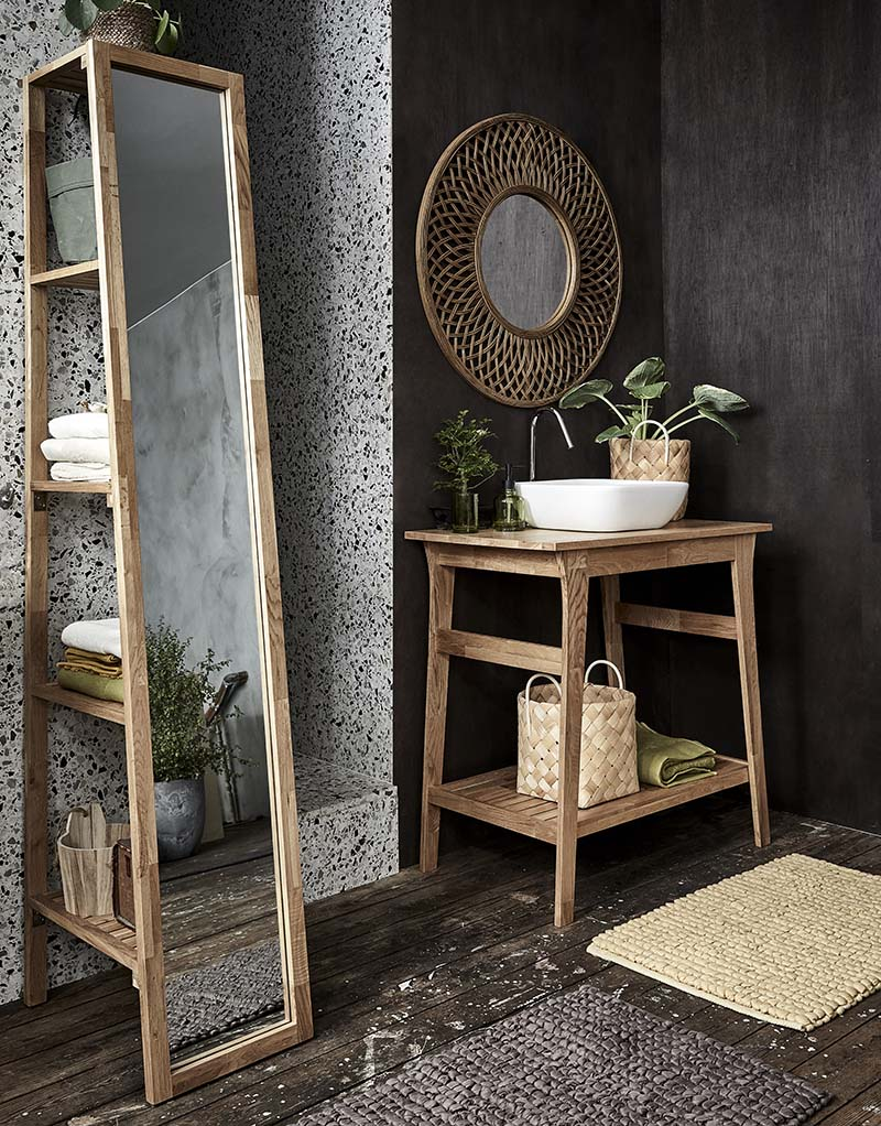 meubles de salle de bains en chêne