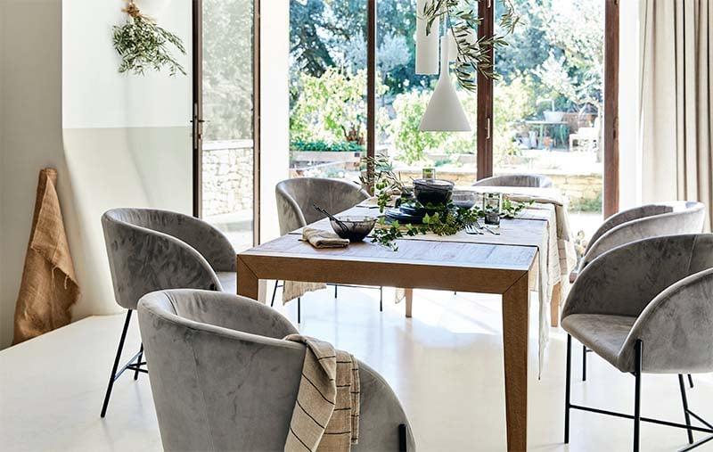 table en bois extensible