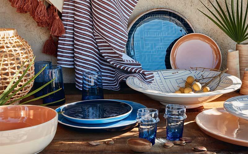 assiettes style marrakech