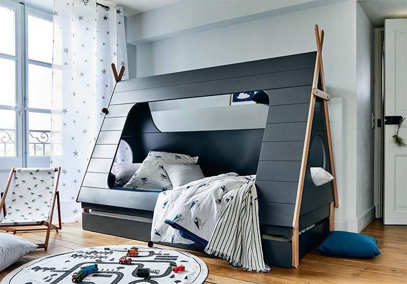 lit enfant cabane forme tipi